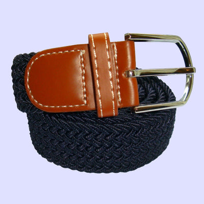Bassin and Brown Woven Belt Navy