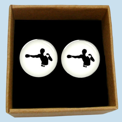 Bassin and Brown - Boxer Cufflinks - White and Black