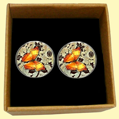 Bassin and Brown - Butterfly Cufflinks - Yellow and Fawn