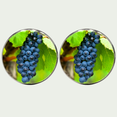 Bunch of Grapes Cufflinks- Green and Blue