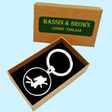 Bassin And Brown Black and White Scuba Diver Keyring