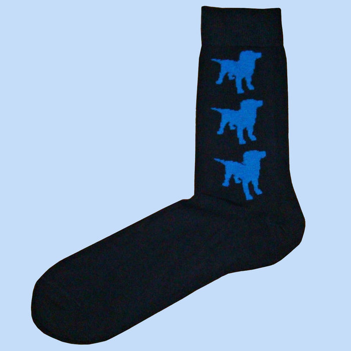 Bassin And Brown Bamboo Black and Blue Labrador Socks