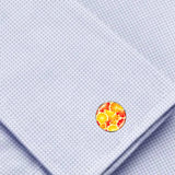 Bassin and Brown - Oranges and Lemons Cabachon Cufflinks - Orange and Yellow