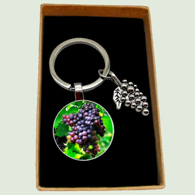 Bassin And Brown - Bunch of Grapes Keyring- Green, Wine and Blue