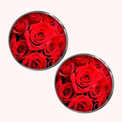 Bassin and Brown - Roses Cufflinks - Red