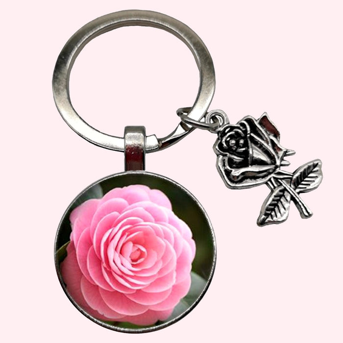 Bassin and Brown - Pink Rose Keyring