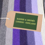 Bassin and Brown - Mens - Design Thompson - Striped  - Wool Scarf - Purple/Grey/Lilac