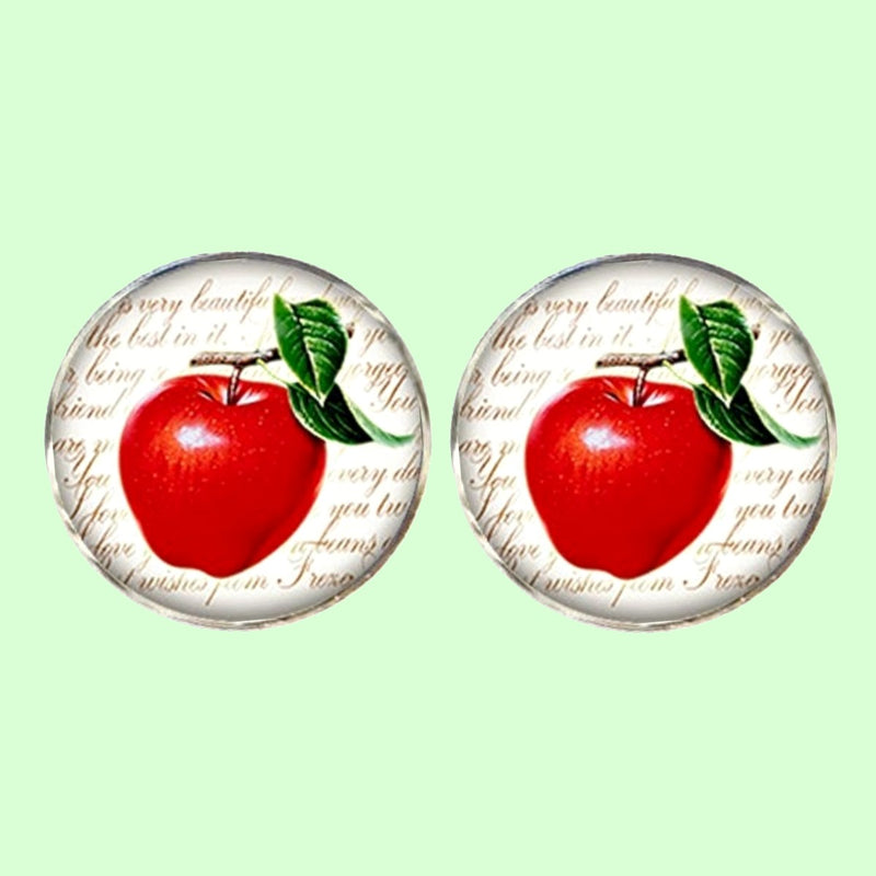 Bassin and Brown - Apple Fruit Cufflinks - Red