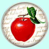Bassin and Brown Apple Fruit Jacket Lapel Pin - Red.White