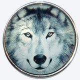 Bassin and Brown -  Arctic Wolf Keyring - Grey and White
