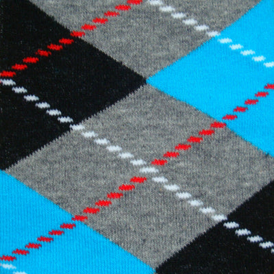 Bassin and Brown  Blue, Grey, Black and Red Argyle Men's Socks