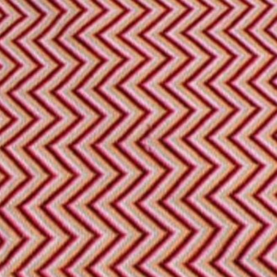 Bassin and Brown - Peate - Horizontal Chevron Stripe - Wool Scarf -Red and Beige