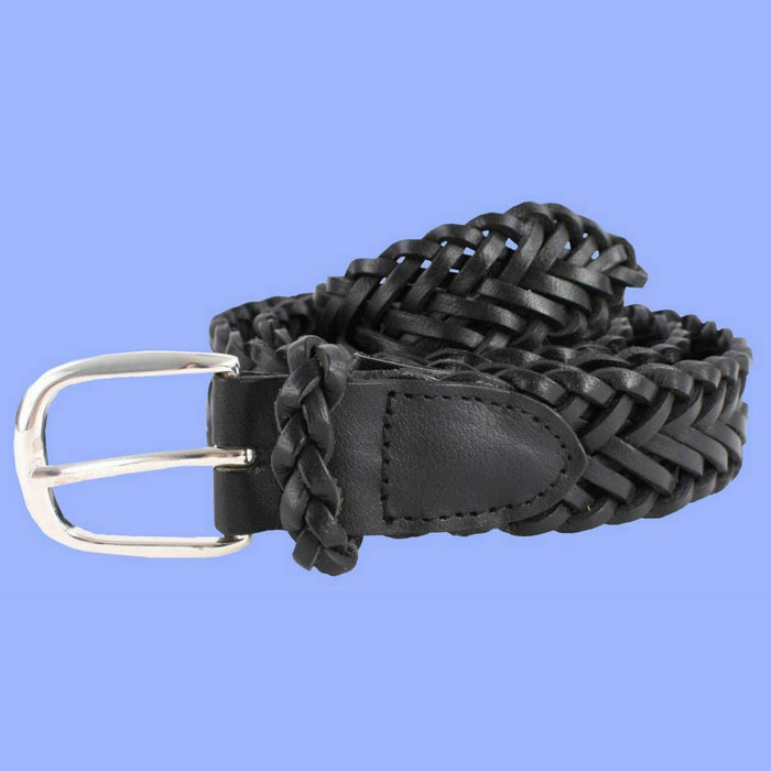 Bassin and Brown Black Plaited Leather Belt
