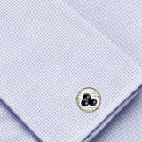 Bassin and Brown Blackcurrant Cufflinks - Purple/White