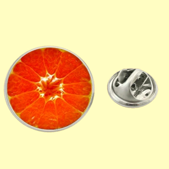 Bassin and Brown - Blood Orange Fruit Jacket Lapel Pin