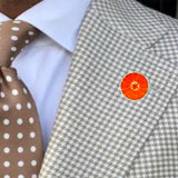 Bassin and Brown Blood Orange Fruit Jacket Lapel Pin