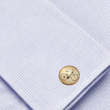 Bassin and Brown Bicycle Cufflinks - Black/White
