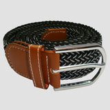 Bassin and Brown Black Chevron Stripe Woven Belt
