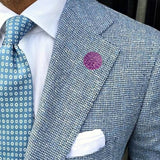 Bassin and Brown Lilac Chrysanthemum Flower Jacket Lapel Pin