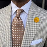 Bassin and Brown  Yellow Chrysanthemum Flower Jacket Lapel Pin
