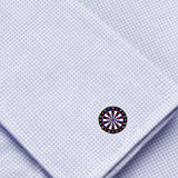 Bassin and Brown Dartboard Cufflinks - Black, White and Red