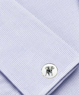 Bassin and Brown Elephant Cufflinks - White/Black