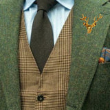 Bassin and Brown Stag Vintage Gold Jacket Lapel Pin
