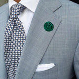 Bassin and Brown Green Rose Jacket Lapel Pin - 4cm Diameter