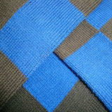 Bassin and Brown Harlequin Check Cotton Socks - Grey/Royal Blue