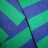 Bassin and Brown Green and Royal Blue Hooped Striped Cotton Socks