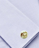 Bassin and Brown Horses Cufflinks - Brown/White