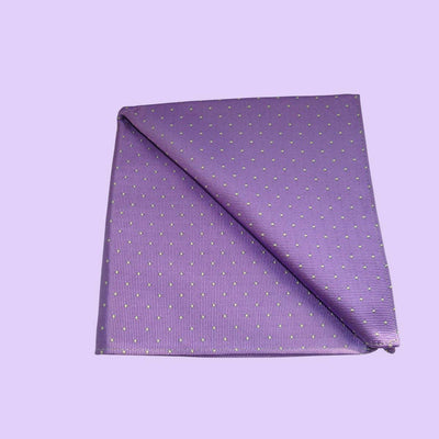 Bassin and Brown Lilac Ground With White Spot Pocket Square