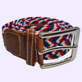 Bassin and Brown Multi Colour Woven Elasticated Belt -Red, White and Blue