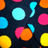 Bassin and Brown - Multi Coloured Spotted Socks - Yellow, Turquoise, Navy, Blue, Pink and Orange