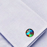 Bassin and Brown Nebula and Galaxy Cufflinks  -Blue, Green and Wine