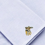 Bassin and Brown Penguins Cufflinks - Silver/Gold