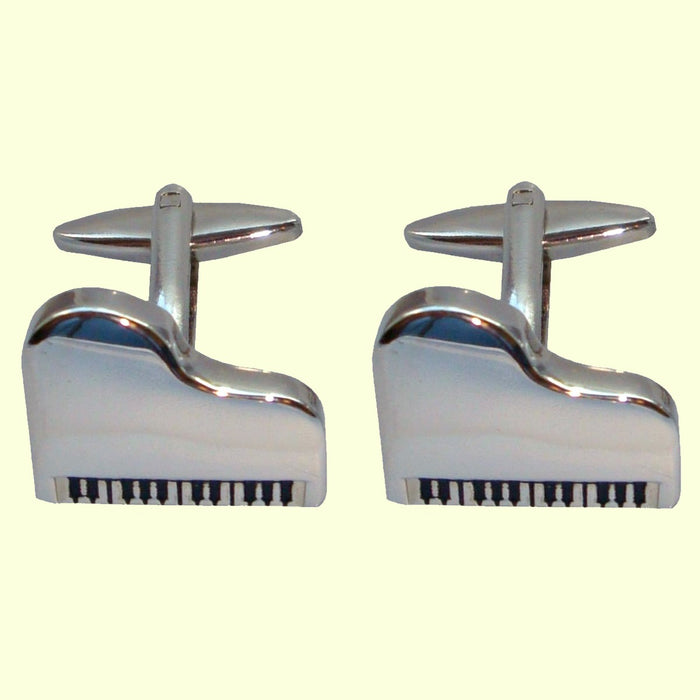 Bassin and Brown Silver Piano Cufflinks