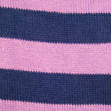Bassin and Brown Hooped Striped Socks - Purple and Navy