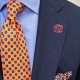 Bassin and Brown Dusky Pink Rose Floral Jacket Lapel Pin