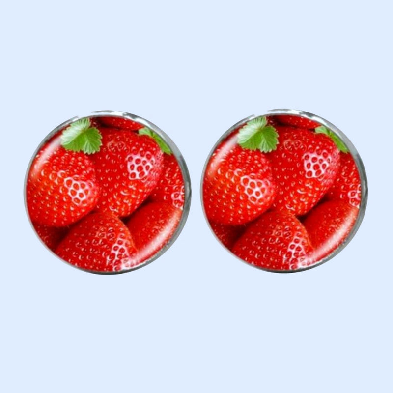 Bassin and Brown Strawberry Cufflinks - Red