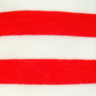 Bassin and Brown Hooped Stripe Socks - Red/White