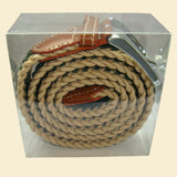 Bassin and Brown Arrow Stripe Woven Elasticated Belt - Beige, Green and Black