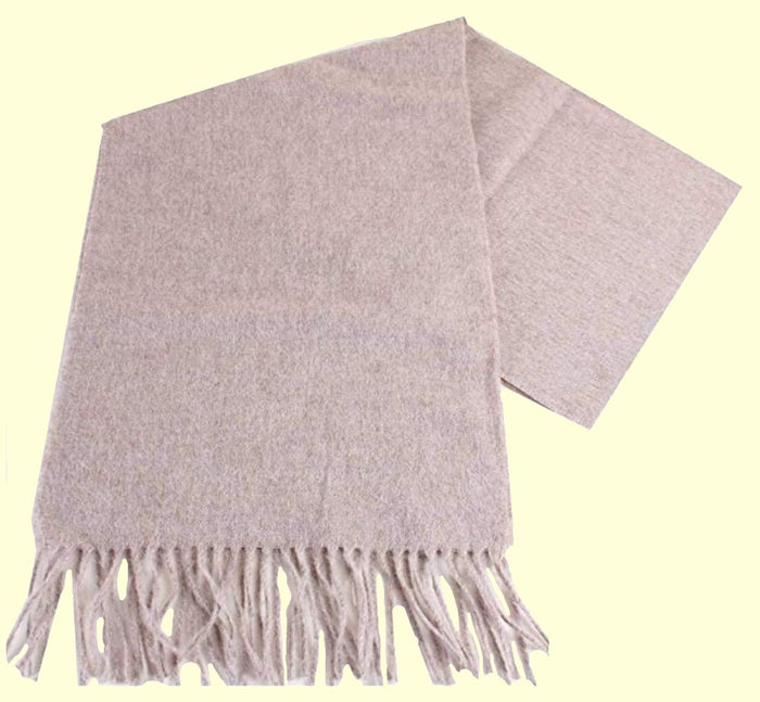 Bassin and Brown - Plain - 100% Wool - Mens Scarf - Design Veal - Beige