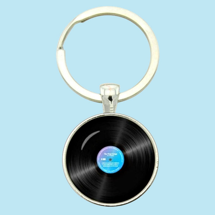 Bassin and Brown Vinyl Disc Keyring - Black/Blue