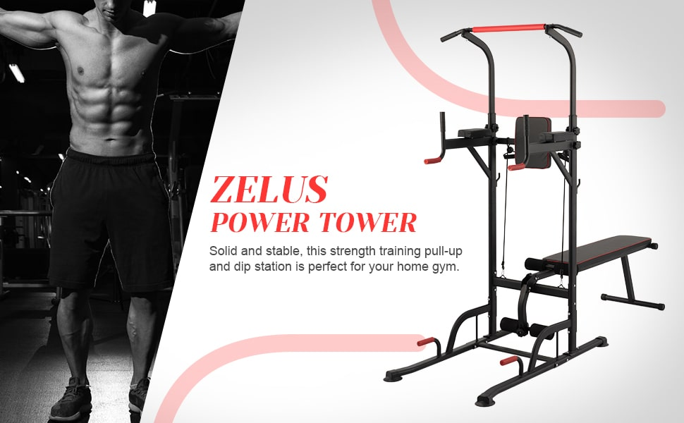 Power Tower Multifunctional Pull Up Dip Station