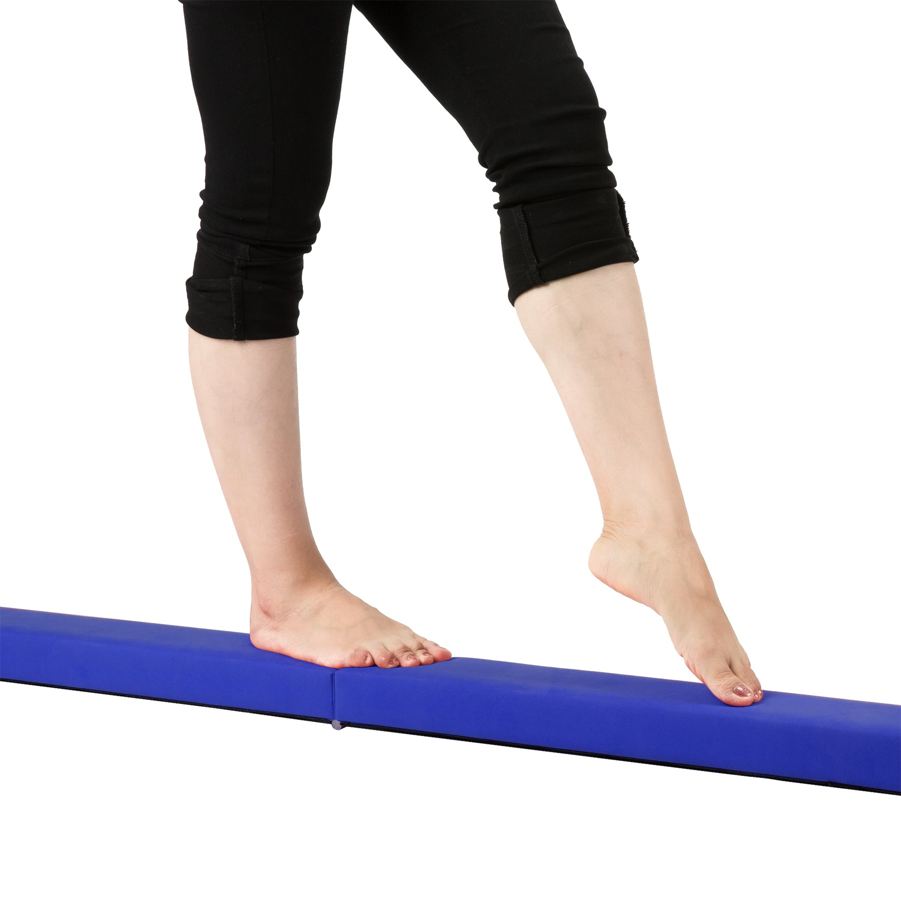 gymnastics folding balance beam blue