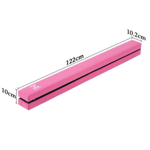 Folding Gymnastics Balance Beam for Home Pink