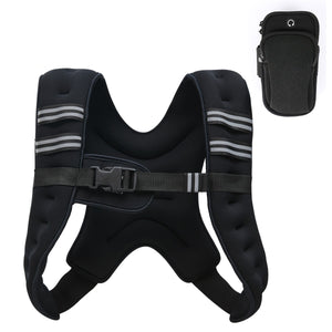 Weighted Vest for Strength Training and Running 16lbs Black