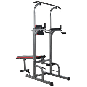 Power Tower Pull Up Bar with Dip Station