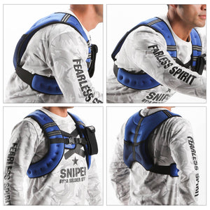 Weighted Vest for Strength Training and Running 12lbs Blue